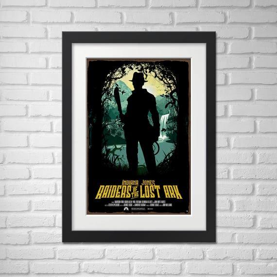 Indiana Jones Movie Poster Illustration / Raiders of the Lost Ark Movie Poster / Movie Poster / Indiana Jones / Raiders of the Lost Ark