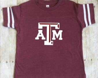Texas A & M Toddler Shirt-TAMU Toddler Shirt-Texas A and M Maroon Shirt-Kids A and M Aggies Shirt-Texas A and M Kids Shirt-Maroon Shirt
