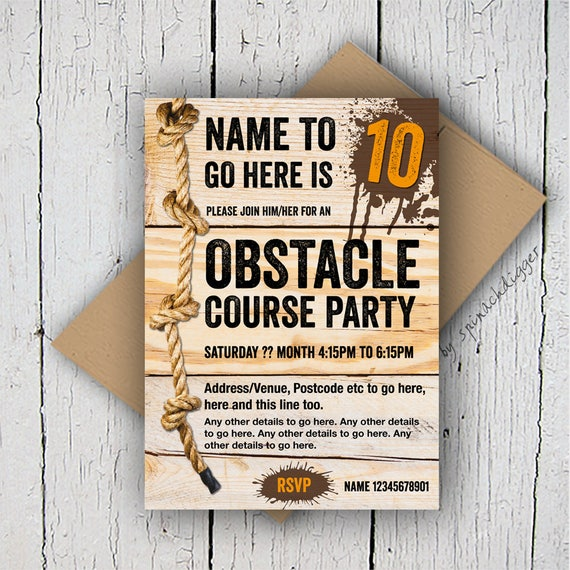 obstacle course invitation assault course invitation muddy