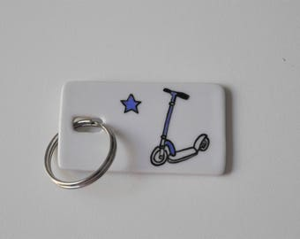 Personalized Scooter, for Dad or athletic boy keychain!