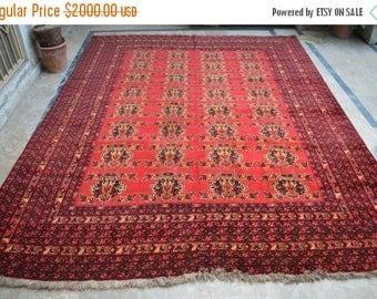 30% DISCOUNT FREE Shipping >>>8'7 x 10'10 Feet, Super Fine Quality Vintage afghan anar gul oriental area rug, 8x10 rug, rugs