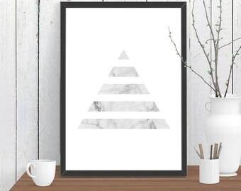 Divided Triangle Marble Print, Wall Art, Room Decor, Modern, Minimalist, Poster A4 A3 A2 8x10 11x14 12x18 16x20