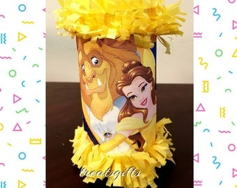 Princess belle Birthday - Beauty and the beast birthday - Beauty and the beast Party - Beauty and the beast party favors goodie bags qty 12