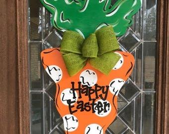 Easter Carrot door hanger Happy Easter door hanger Easter wreath