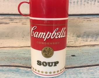 Campbells Soup Thermos, 11.5 ounce, Adult Lunch, Cold, Hot, 1998, Children's Lunch Container