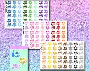 No Sugar Planner Stickers