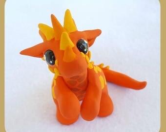 Flame the Orange Fire Dragon Figurine