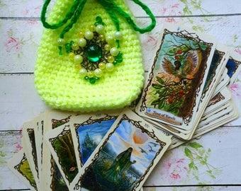 Tarot Deck Bag, Rider Waite Tarot Bag, Embroidered Tarot Card Bag, Wiccan Altar Kit, Tarot Purse, Tarot Deck, Tarot Pouch, Tarot Box, Case