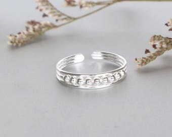 Silver Toe Ring, Dainty Toe Band, Adjustable Toe Ring, Minimalist Toe Ring, Gift Toe Ring, Bohemian Toe Ring, Feet Accessory, (TS53)