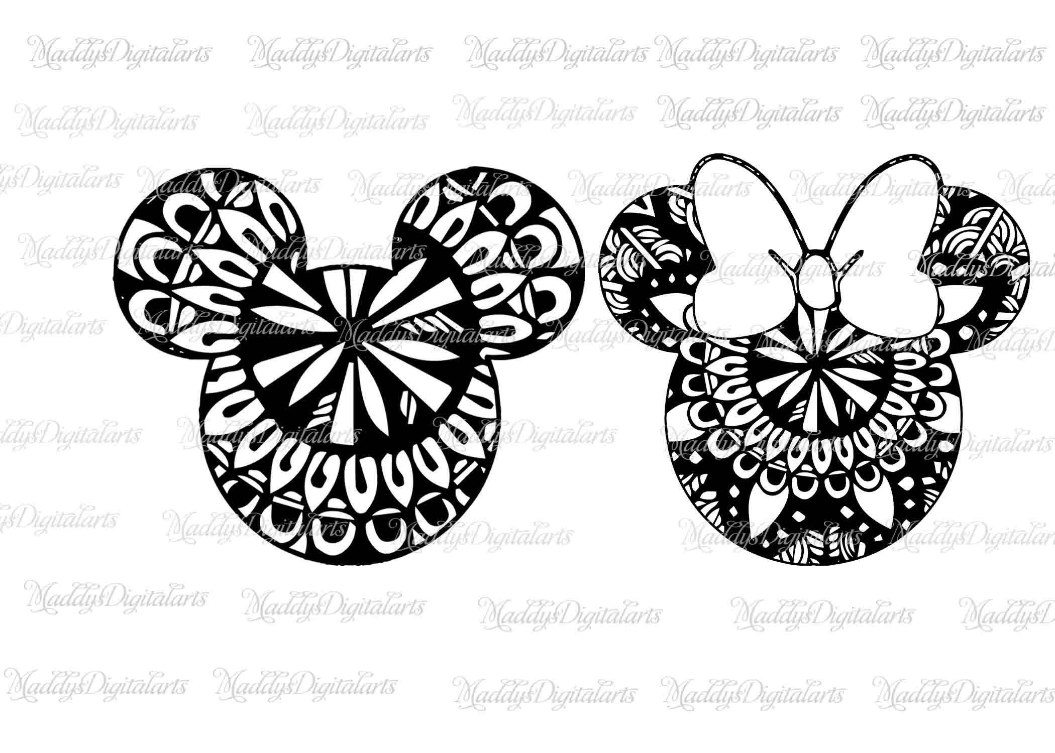 Mickey Mandala Mouse SVG File Minnie Mandala Svg Vinyl