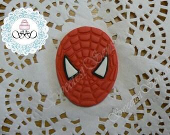 12 x Edible fondant Spiderman Cupcake Toppers