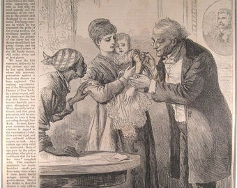 Vaccination of Baby – Smallpox - 1870