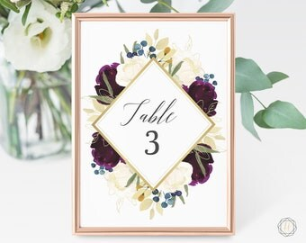 Wedding Table Numbers, Table Numbers, Marsala Table Number, Burgundy Wedding, Rustic Wedding Decor, Table Number Card, Marsala Wedding, #PNG