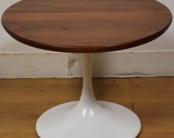 Saarinen Style Walnut Tulip End Table