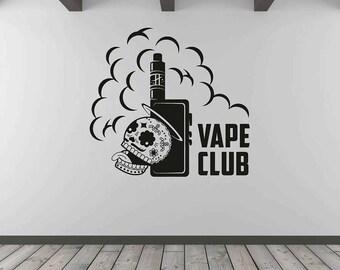 Vape Shop Wall Decal Vape Wall Stiker Vaper Decal Smoke Vinyl Vaping Decor Vaping Wall Decal kik3211