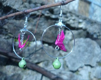 Butterfly origami and Bell earrings