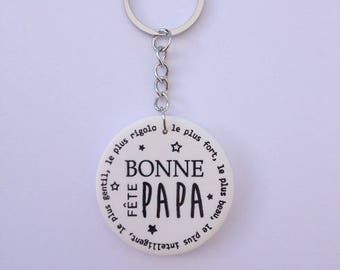 "Dad keychain ""Happy birthday Dad"""