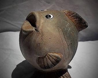 Vintage Earthenware Kitcshy Fish