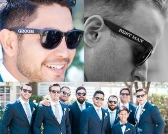 10% OFF Printed Groomsmen Sunglasses (Groom, Best Man & Groomsman), Best Man Sunglasses, Wedding Sunglasses, Groom Glasses, Cheap Groomsmen