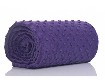 Half a metre coupon 50 minky fabric x 160 cm, purple velvet fabric / plush