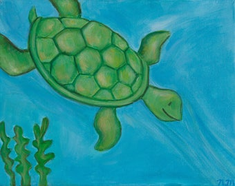 Painting for Children's Room -Turtle
