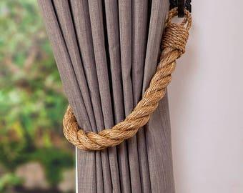 Extra Thick 2.8 cm Manila Rope Curtain Tiebacks hold-backs nautical decor
