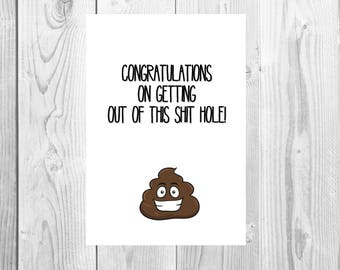 Funny humour leaving card new job
