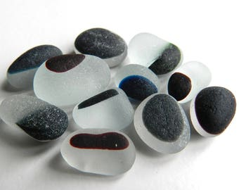 Monochrome Sea Glass Multis for Jewellery