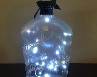 Tequila bottle lamp