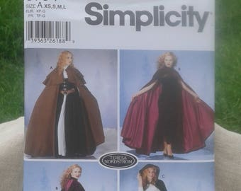 Misses' & Women's Costume Cape Cloaks - Victorian / Medieval / Gothic / Red Riding Hood Cape - Simplicity Sewing Pattern 5794 - Sizes XS - L