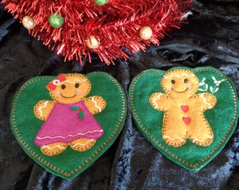 Novelty Gingerbread Christmas Cutlery Holders