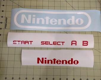 Nintendo NES Controller decal set