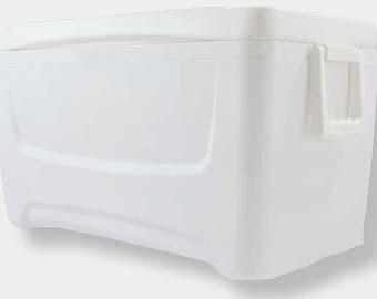 48 Quart Sanded, Bondo'd and Primed  Custom Cooler