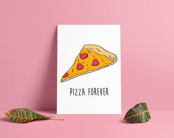 Pizza forever poster • & card