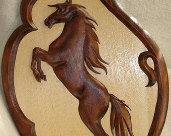 Wood carving Horse, Wooden Horse,  Carving wall Horse,  Decorations Horse,  Handmade Horse