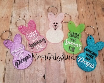 Easter gifts, Easter backpack tags, Easter keychains