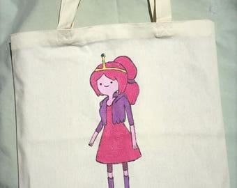 Princess Bubblegum Adventure Time Hand Painted Tote Bag