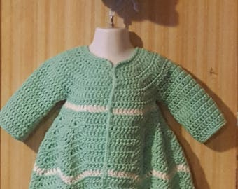 Crochet girls sweater