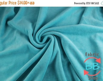 30% OFF Sky Blue Organic Cotton Velour Fabric, Cloth Diaper Material, Cotton Velour, Blue Cotton Velour, 280gsm