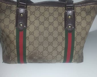Gucci canvas shoulder / handbag