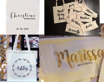 FREE SHIPPING Wedding Thank you Gift, Personalised Bridesmaid Gift Make Up Bag, Maid of Honour Gift, Unique Gift for Bridal Party, Makeup
