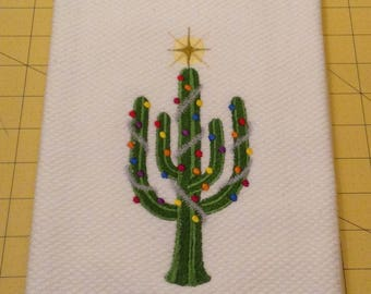 Desert Christmas Tree! Embroidered Williams-Sonoma All Purpose Kitchen Towel, Made in Turkey, Extra Large