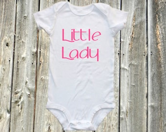 Little Lady Baby Girl one-piece onesie, bodysuit shirt