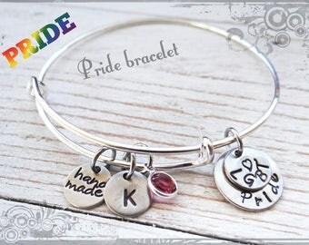 Pride Bracelet, Pride keychain, Pride Bracelet, I love you, LGBT keychain, custom keychain, personalized, LGBT pride