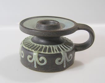 Nice little candle holder by Keramik Keruska, Ontario (?), No. 301, WGP, WEst German Pottery, Fat Lava