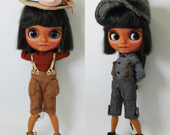 Boyish 3 pieces Dress / Outfit Set for Blythe, Icy, Pullip Doll