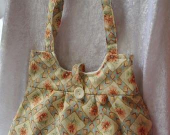 Handmade patterned fabric handbag