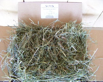 5 lb - 1st Cut Premium Timothy/Orchard Grass/Clover HAY for RABBIT, Guinea Pig, Chinchilla, Gerbil, Hamster. Small animal hay, Pet feed
