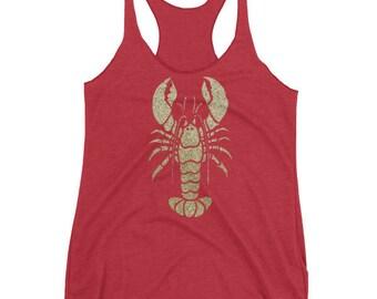 Gold Lobster women's tank top