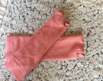 Felted cashmere fingerless gloves